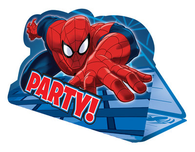 Spiderman uitnodigingen Party