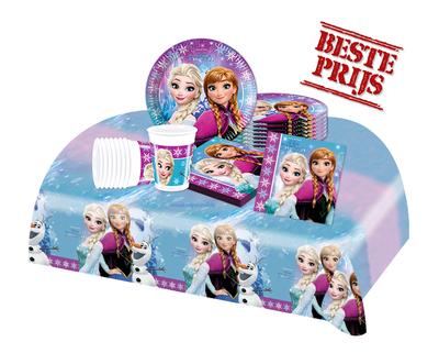 Disney Frozen feestpakket Noorderlicht - voordeelpakket 8 personen