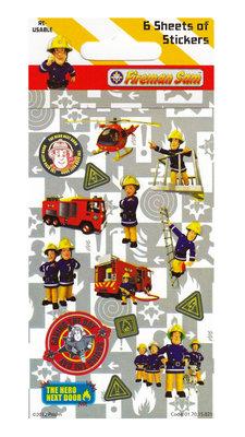 Brandweerman Sam traktatie stickervellen