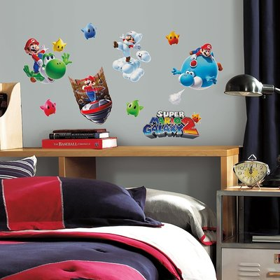 Super Mario 32 delig wanddecoratie muurstickers set