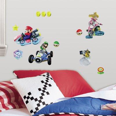 Mario Kart 44 delig wanddecoratie muurstickers set