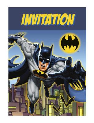 Batman uitnodigingen met envelop