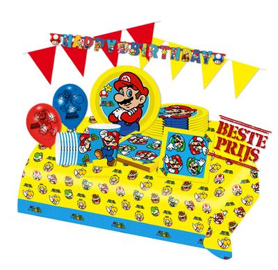 Super Mario feestpakket Deluxe - pakket voor 8 personen Luigi