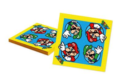 Super Mario servetten met Luigi