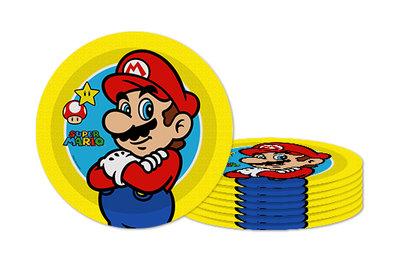 Super Mario feestbordjes