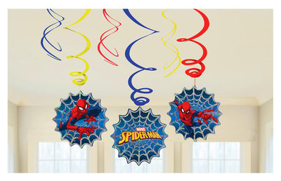 Spiderman plafond decoratie slingers