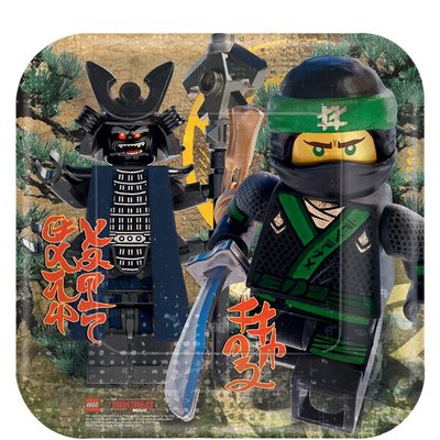 Ninjago party bordjes