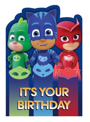 PJ Masks verjaardagskaart