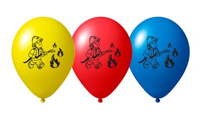 Brandweer ballonnen 27cm groot