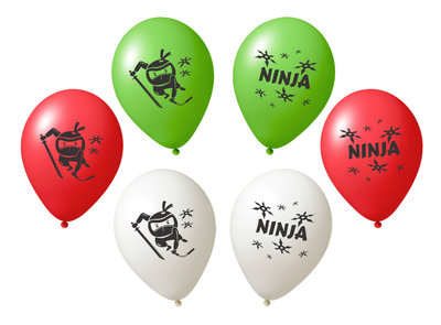 Ninja ballonnen 27cm groot