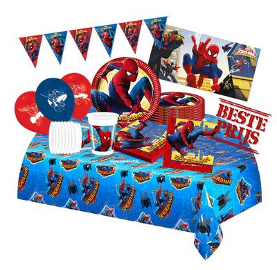 Spiderman feestpakket Deluxe - voordeelpakket 8 personen