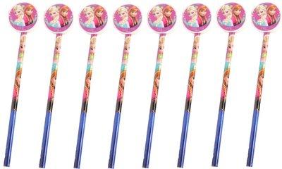 Disney Frozen traktatie potloden met gum | set van 8 stuks
