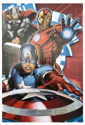 The Avengers wenskaart met envelop