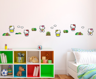 Hello Kitty 24-delig foam decoratie set