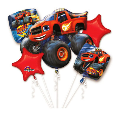 Blaze en de Monsterwielen folie ballonnen set