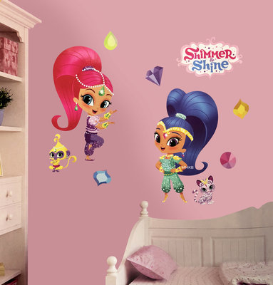 Shimmer and Shine wanddecoratie set 26-delig