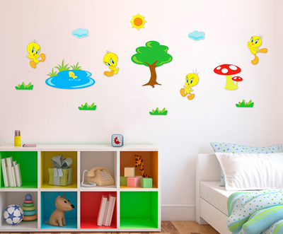 Looney Tunes TWEETY XL foam wanddecoratie set 14-delig