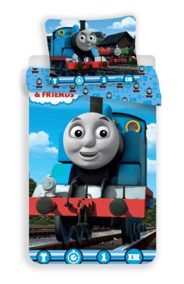 Thomas de Trein dekbedovertrek 2-zijdige print katoen