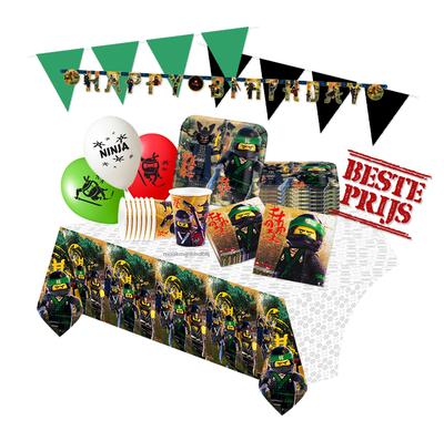 Ninjago feestpakket Deluxe - pakket voor 8 personen