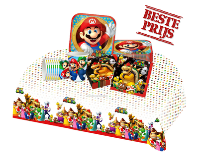 Super Mario feestpakket - voordeelpakket 8 personen