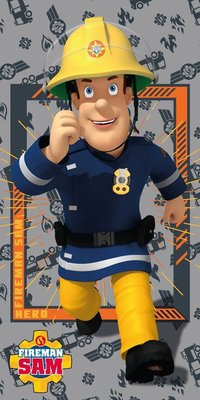 Brandweerman Sam badlaken - strandlaken Hero