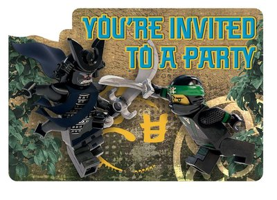 Ninjago uitnodigingen kinderfeest