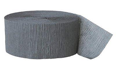 Crepe slinger smal unikleur grijs 24 meter