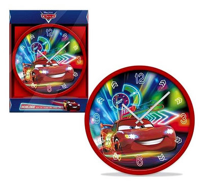 Disney Cars wandklok