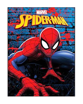 Spiderman fleece deken Wallcrawler