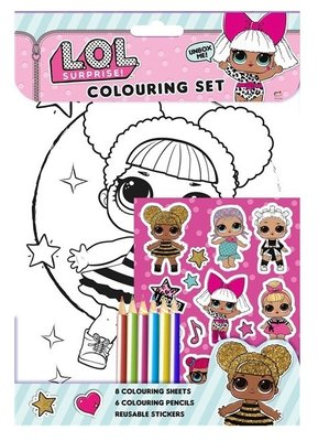 L.O.L. Surprise kleur en sticker set
