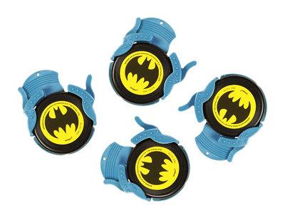 Batman uitdeelcadeautjes schiet frisbees
