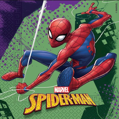 Spiderman servetten