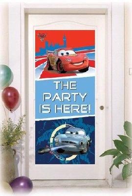 Disney Cars verjaardag deurbanner