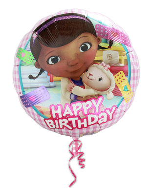 De Speelgoed Dokter foil ballon Happy Birthday
