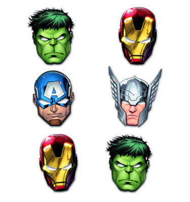 The Avengers feest maskers