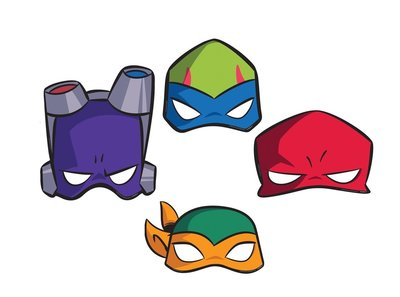 Teenage Mutant Ninja Turtles feest maskers