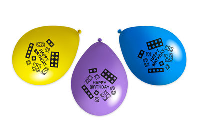 Bouwblokjes ballonnen 27cm groot