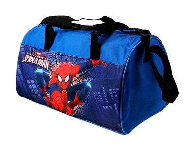 Spiderman sporttas blauw