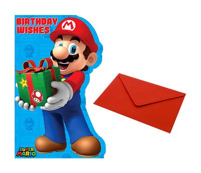 Super Mario verjaardagskaart