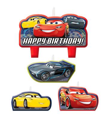 Disney Cars verjaardagstaart kaarsen