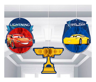 Disney Cars honeycomb 3 delig set