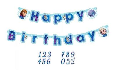 Disney Frozen HAPPY BIRTHDAY slinger met leeftijd