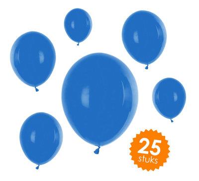 Ballonnen unikleur blauw - 25 stuks