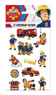 Brandweerman Sam tattoo set