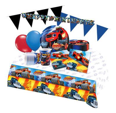 Blaze en de Monsterwielen feestpakket Deluxe - pakket voor 8 personen