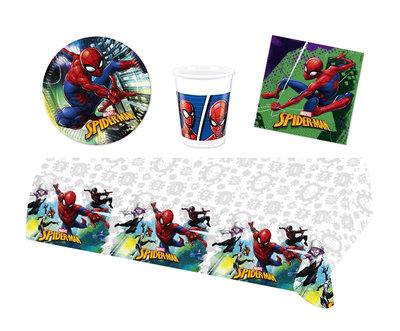 Spiderman feestpakket - voordeelpakket 8 personen