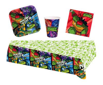 Ninja Turtles feestpakket - voordeelpakket 8 personen 2019
