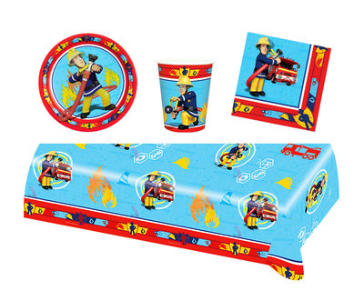 Brandweerman Sam feestpakket II - voordeelpakket 8 personen