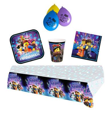 Lego Movie feestpakket - voordeelpakket 8 personen