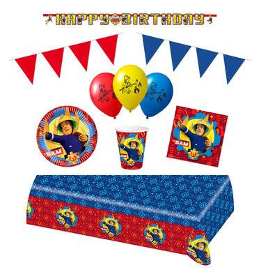 Brandweerman Sam feestpakket Deluxe - pakket voor 8 personen